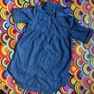 Old Navy denim shirt sleeve dress size 4T EUC